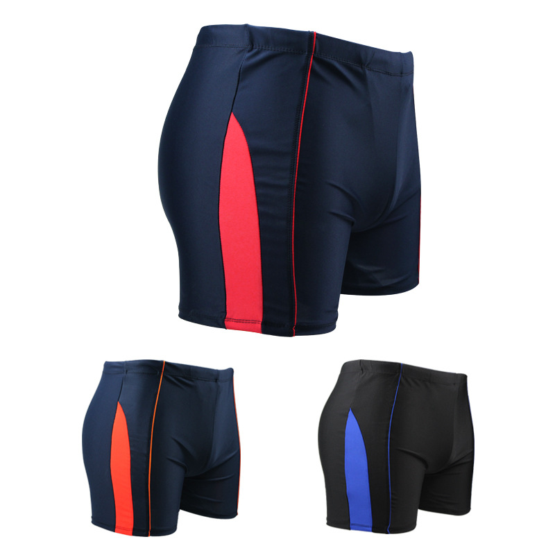 Fashion Men Mixed Colors Swimming Trunks Bubble Hot Spring Men's Swimwear Breathable Quick-Dry Swimming Shorts Stripes Loose-Fit