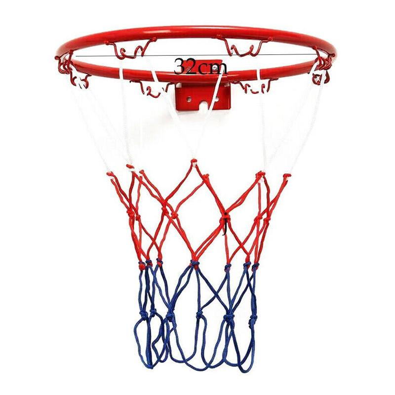 1 Set Hanging Basketball Wall Mounted Goal Hoop Rim Indoor&outdoor Netting Sports Net B8P5