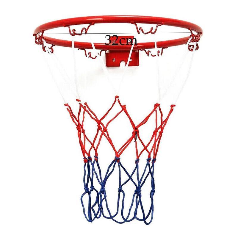 1 Set Hanging Basketball Wall Mounted Goal Hoop Rim Indoor&outdoor Netting Sports Net B8P5