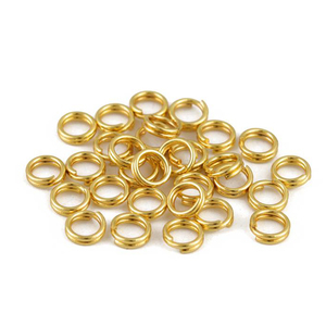 100pcs/lot Stainless steel Jump Ring double rings Double Loops Split Rings Connectors DIY Jewelry Making Supplies for DIY