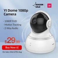 YI Dome Cámara global con monitor de visión nocturna para bebé, sistema de seguridad, de vigilancia, inalámbrico, con cobertura de 360 grados, 1080P, IP WIFI,