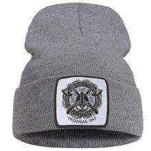 Vintage viking legend legal 2021 impressão masculina outono chapéu quente casual hip hop feminino chapéus de inverno moda macia harajuku gorro para o menino