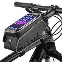 Bisiklet telefonu tutucu çanta aksesuarları cep standı kılıfı iphone 11 Pro XR Samsung S10 S9 artı kapak su geçirmez bisiklet telefon çantası