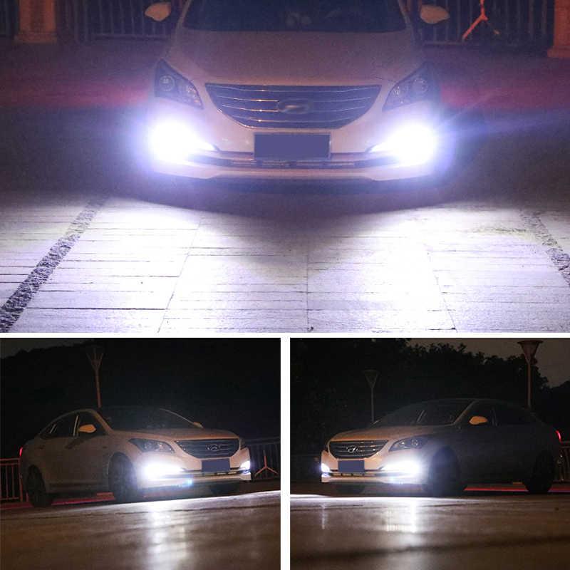2 шт. супер яркие H1 светодиодные лампы противотуманные ходовые огни 6000K белый 3030 12SMD 1200Lm Univeral лампа с canbus автомобиля противотуманные передние фары