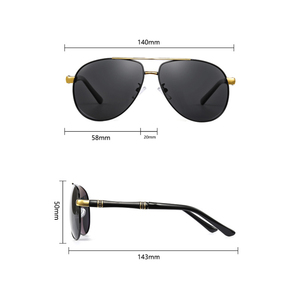 Image 5 - คุณภาพสูงแว่นตากันแดดนักบิน Polarized UV400 แว่นตากันแดด Mens Driving แว่นตากันแดดแว่นตากันแดด 2020 oculos พร้อมกล่อง sunglasses men sun glasses man sunglass mens