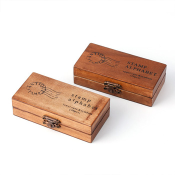 New 30pcs Retro Alphabet Letter  Wooden Rubber Stamp Set Craft