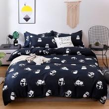 Przesilenie tekstylia domowe kołdra okładka poszewka na poduszkę narzuta Panda Cartoon zestaw pościeli dla dzieci chłopiec nastoletnia dziewczyna pościel podwójne, pełne 3/4 sztuk