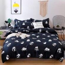 Solstice домашний текстиль, пододеяльник, наволочка, чехол, плоская простыня, панда, мультяшный Комплект постельного белья для мальчиков и девочек, постельное белье для детей 3/4 шт.