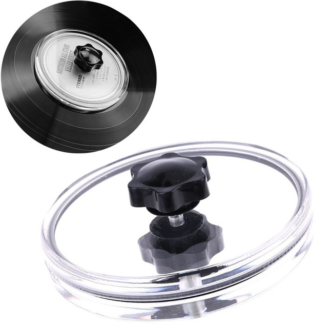 Waterproof Acrylic LP Vinyl Record Cleaner Clamp Record Label Saver Protector Protective Clip Phonograph with Clean Cloth Tool