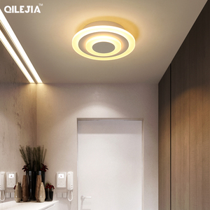 Image 5 - Lámpara acrílica cuadrada/redonda para sala de estar, dormitorio, hogar, AC85 265V, candelabro Led moderno, accesorios, novedad