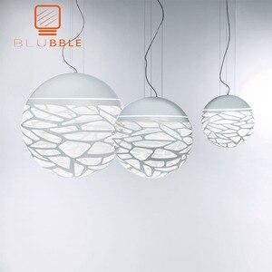 Image 1 - BLUBBLE Studio Key подвесной светильник s полый современный светильник белый светодиодный Новый Пазл Домашний Светильник для отеля