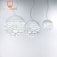 BLUBBLE stüdyo anahtar kolye ışıkları Hollow Modern ışık beyaz LED yenilik bulmacalar otel ev aydınlatma