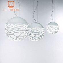 Blubble estúdio chave pingente luzes oco luz moderna branco led novidade puzzles hotel iluminação para casa