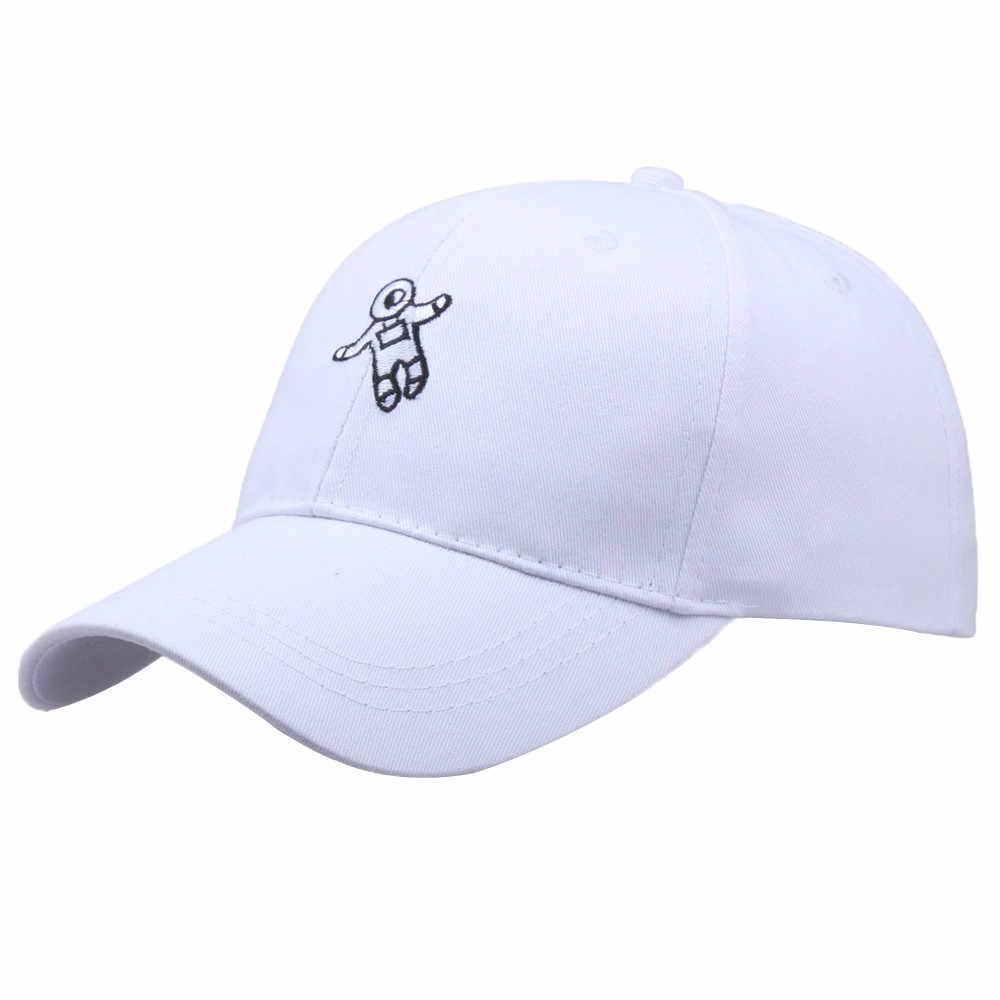 Chapéu pai Emberoidery Astronauta Sólidos Bonés de Beisebol Unisex Mulheres Homens Meninos Meninas Chapéu de Sol Snapback Chapéus de Moda Verão Ajustável # D