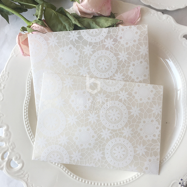 20pcs/lot Sulfuric Acid Paper Lace Envelopes, Postcard/Gift Packing Envelope Bag, Wedding Invitation Envelopes