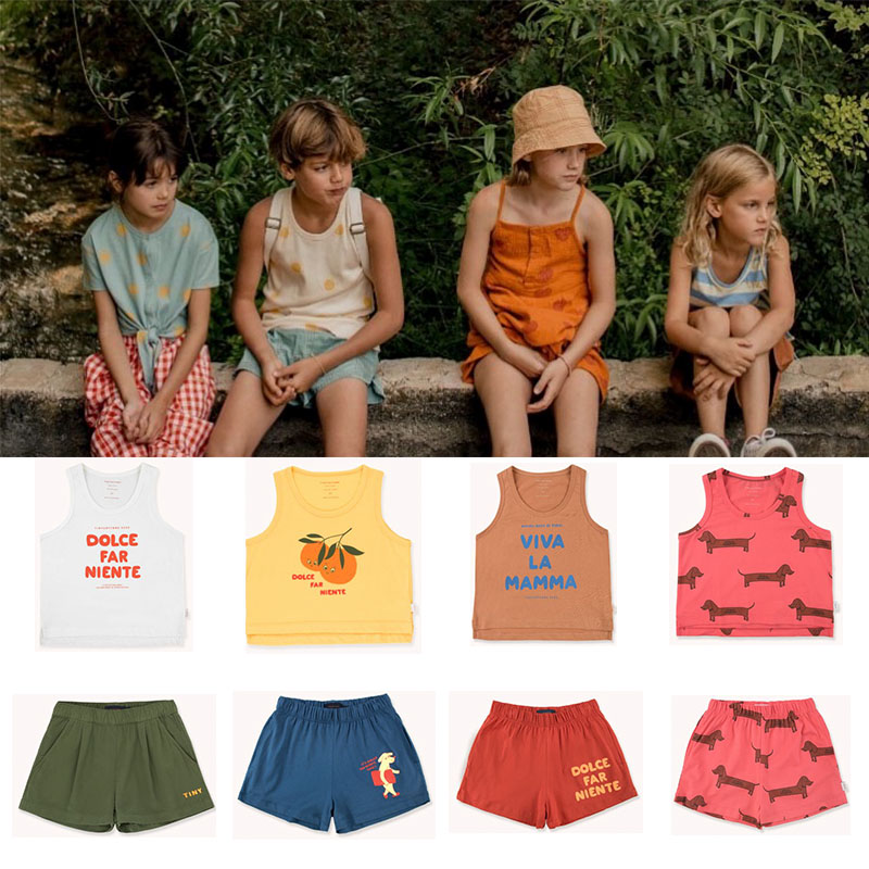 2020 Fashion Brand Kids Summer Tshirt and Shorts Toddler Boys Girls Orange T Shirts Children Stylish Tee Shirt Baby Cartoon Tops 1