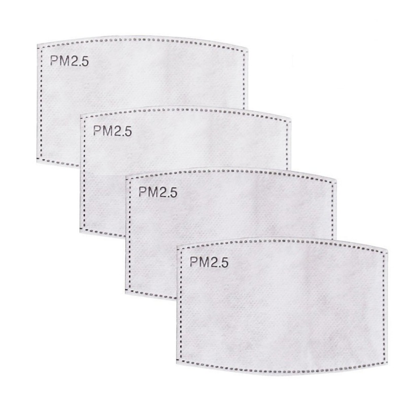 5 Layers Filter Face Mask PM2.5 N95 Face Mask Filter Activated Carbon Breathing Filters Adult