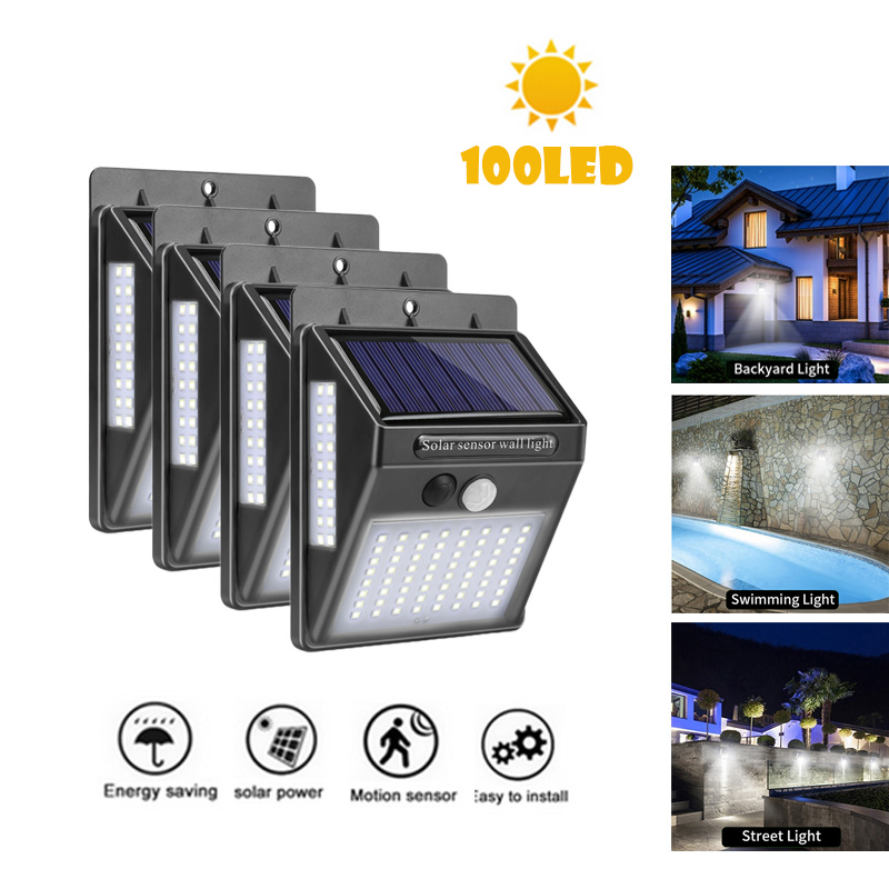 30/40/100 LED Solar Light Garden Solar Lamp PIR Motion Sensor Solar Powered Motion Waterproof for Outdoor Wall Street Decoration