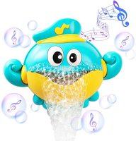Juguetes de baño para bebés, máquina de burbujas, cangrejo, Rana, música, juguete de baño para niños, bañera, jabón automático, juguete de baño para niños