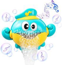 Zabawki do kąpieli dla niemowląt maszyna do baniek mydlanych kraby żaba muzyka zabawka do kąpieli dla dzieci wanna mydło automatyczny ekspres do baniek zabawka łazienkowa dla dzieci