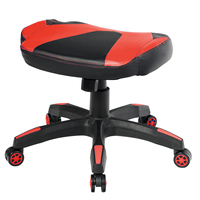 Costway Multi Use Gaming Ottoman Footstool Chair Footrest Swivel Height Adjustable Red