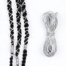 Colour Braids Hair Accessories Braiding Hair Styling Thin Shimmer Stretechable Braiding Hair Strings African Braid Braided 5m