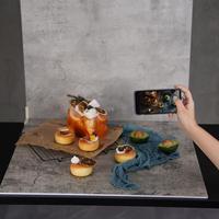 60*60cm fotografía veteado de madera fondo fotográfico grano impermeable fondo de estudio de la foto