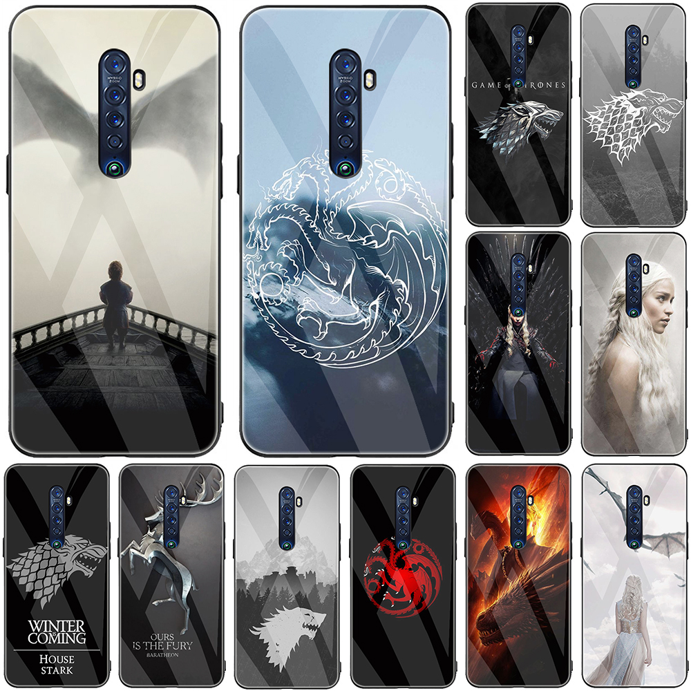 Game Of Thrones House Tempered Glass <font><b>Phone</b></font> Case for <font><b>OPPO</b></font> F5 F7 F9 <font><b>F11</b></font> A9 A1K A59 A83 Reno 2 2F 2Z Realme Q 3 5 <font><b>Pro</b></font> X2 XT image