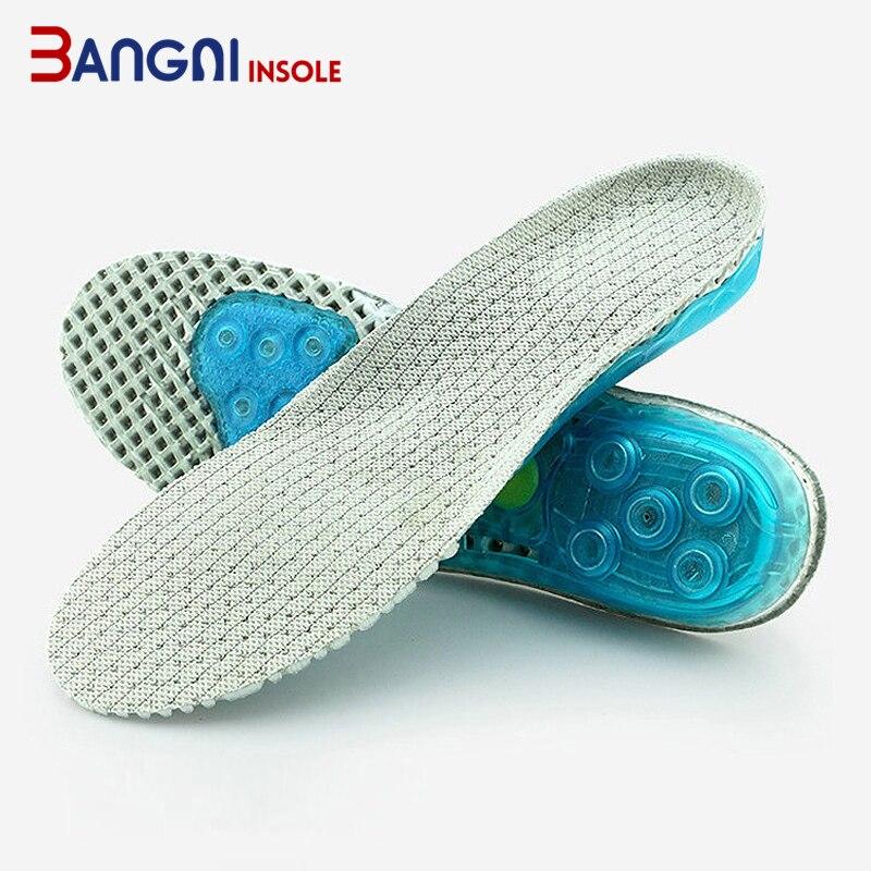 Дышащие силиконовые стельки 3angni, Нескользящие, спортивные, поддержка свода стопы, гелевые, серые, черные|Стельки| | АлиЭкспресс