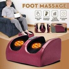 220V Electric Antistress 3D Shiatsu Kneading Air Pressure Foot Massager Infrared Foot Care Machine Heating & Therapy EU/US plug