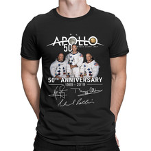 Anniversary Apollo Moon 1969-2019 50th Retro T Shirts Space Adventure Occupy Mars Tshirts Men Hipster New Tee Shirts Cotton printio occupy mars