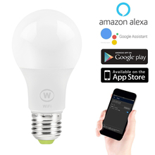 E27 Smart LED Light Bulbs WiFi LED Lamps 6.5w Warn/Cool White Wake-up Lights App Remote Control work with Alexa Google Assistant
