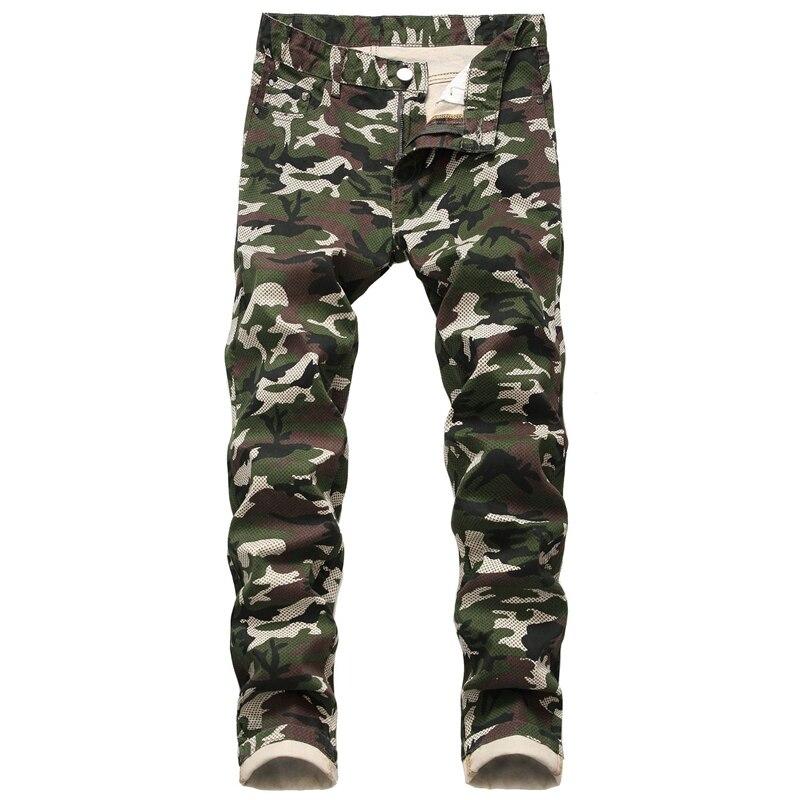 Slim Fit Camo Men Jeans Army Green Camouflage Skinny Denim Stretch Pant Mens Biker Jeans Streetwear For Men Calca Masculina,1553