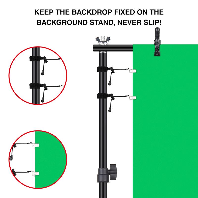 cheapest Backdrops Holder Clamp Clip Photography Reflector Clamp Pipe Lighting Stand Flex Arm Photo Fotografica Accessories