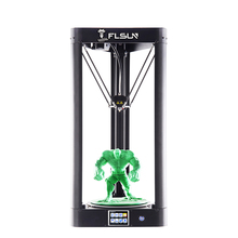 FLSUN Delta 3D Printer QQ-S Kossel Auto-leveling Heat bed Large Printing size 32 bits motherboard 3D printer 2018 update high speed flsun qq large 3d printer metal frame auto leveling flsun printer 3d machine touch screen heated bed wifi