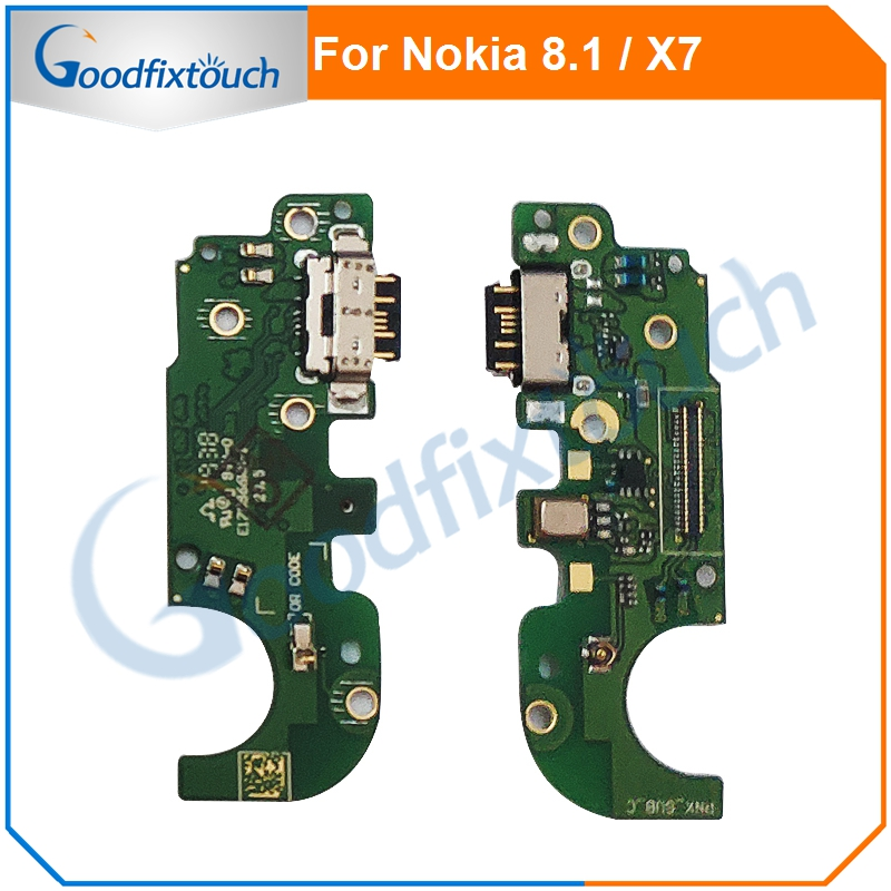 For <font><b>Nokia</b></font> <font><b>8.1</b></font> X7 USB Charging <font><b>Charger</b></font> Port Dock Connector Flex Cable Ribbon For <font><b>Nokia</b></font> X7 <font><b>8.1</b></font> Repair Parts image