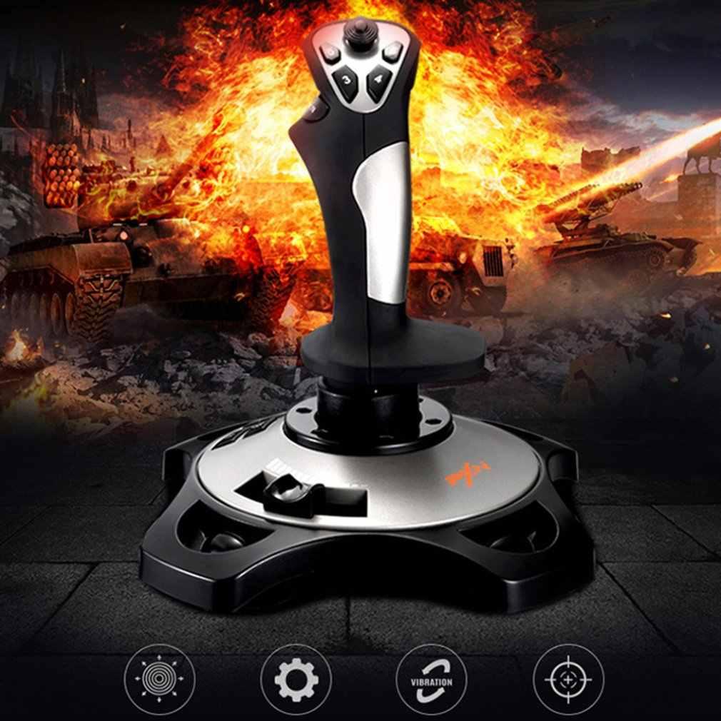 PXN-2113 геймпад для симуляторов, джойстик для ПК/настольного симулятора самолета, Вибрационный игровой контроллер, аксессуары