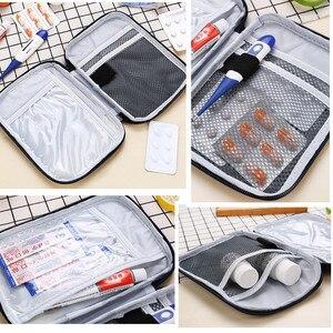 Image 5 - Trousse de trousse de premiers soins Portable extérieur, pochette de trousse de médicaments de voyage sacs durgence, petit séparateur de médicaments rangement