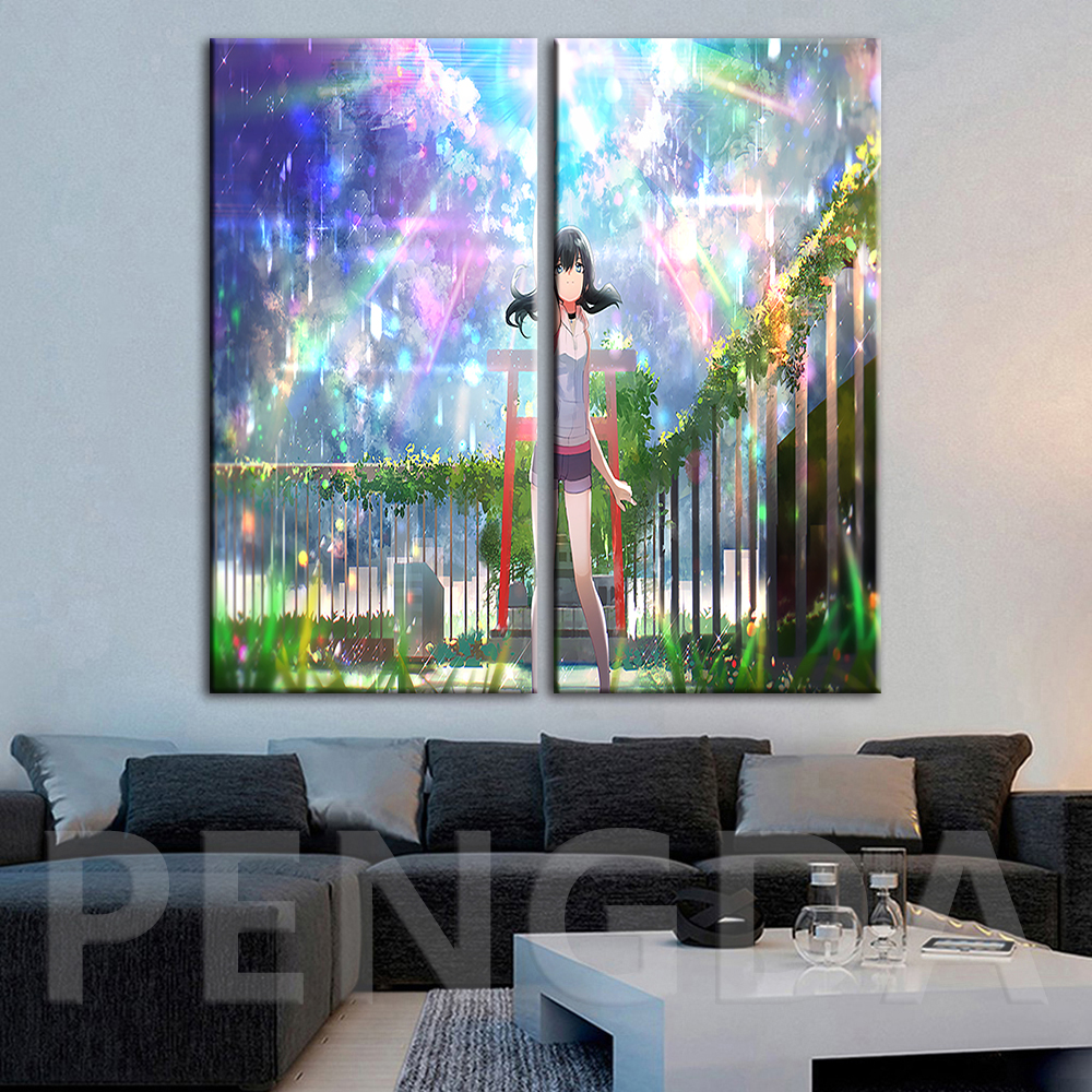 Canvas Painting Poster Wall Artwork Japanese Animation Weathering