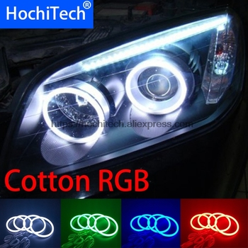 HochiTech 5050 SMD Cotton Multi-Color RGB LED Angel Eyes Kit with remote control for CHEVROLET CAPTIVA S3X 2006 -2011car styling