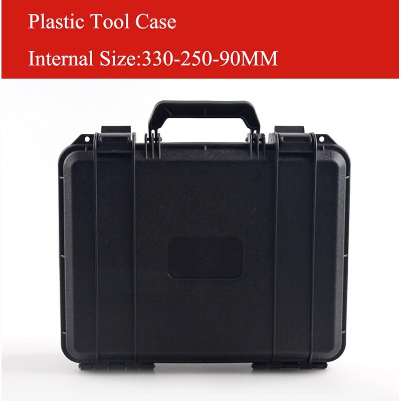 330 x250x90mm ABS Gereedschapskoffer gereedschapskist Slagvast afgesloten veiligheidskoffer uitrusting cameratas gratis verzending