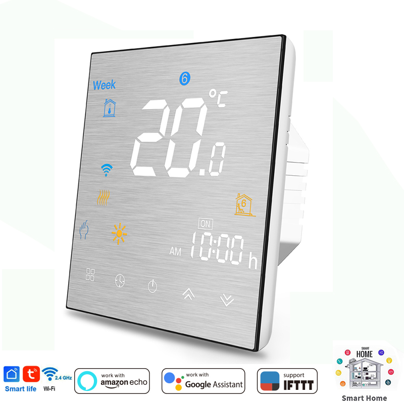 WiFi Smart Thermostat Temperature Controller For Water/Electric Floor Heating Water/Gas Boiler Works For Alexa Google Home IFTTT