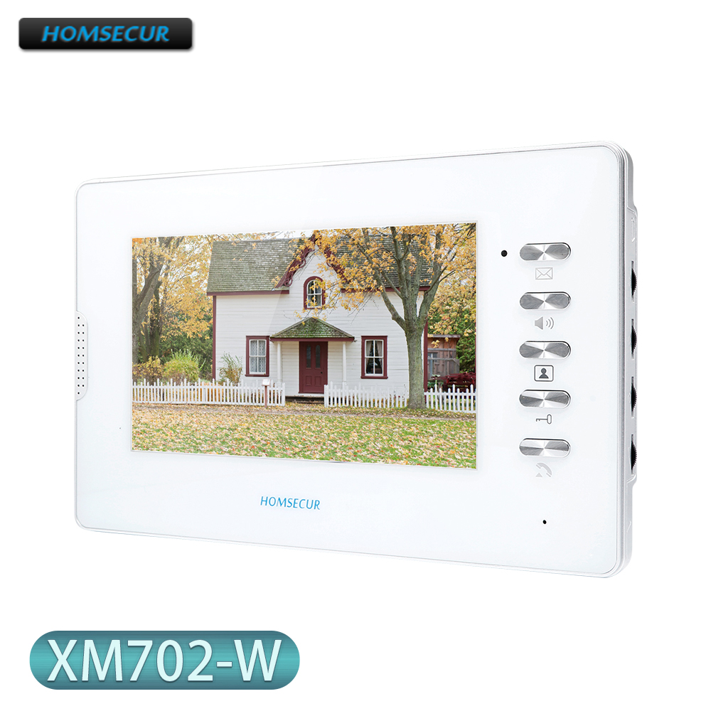 XM702-W Intercom Monitor with 7inch Screen for HOMSECUR HDS Series Video Door Phone Intercom System
