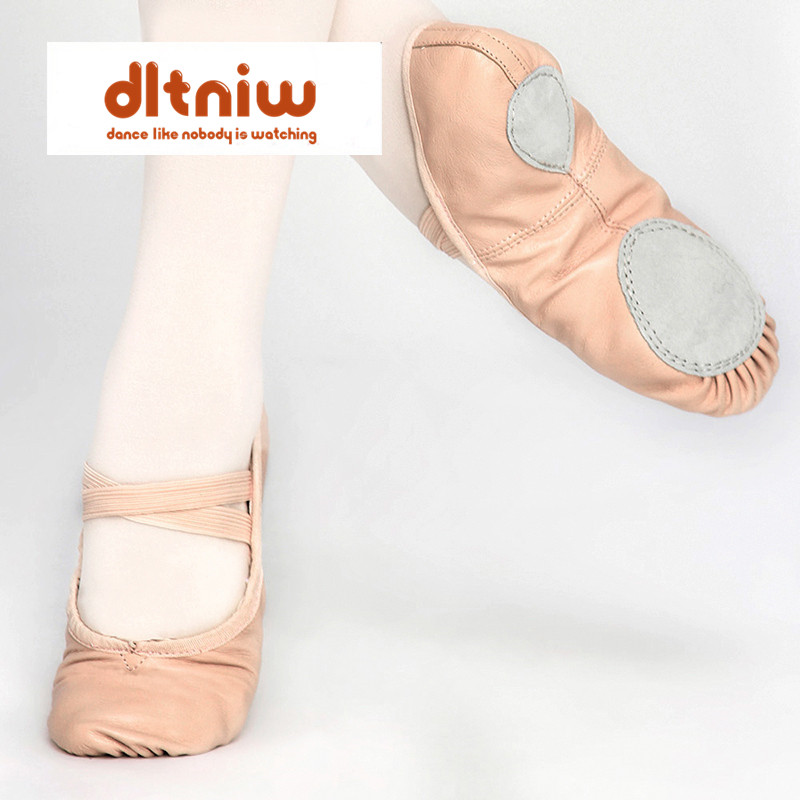 Brand Dames Schoenen Genuine Leather Professional Dancing Shoe Soft Girl Women Full Split Sole Pink Wholesale Ballet Dance Shoes