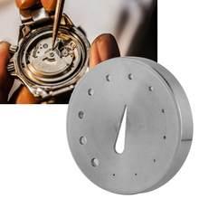 Portable 30106 acier montre Balance Hairspring tenant outil de réglage avec trous montre réparation accessoire outils pour horloger