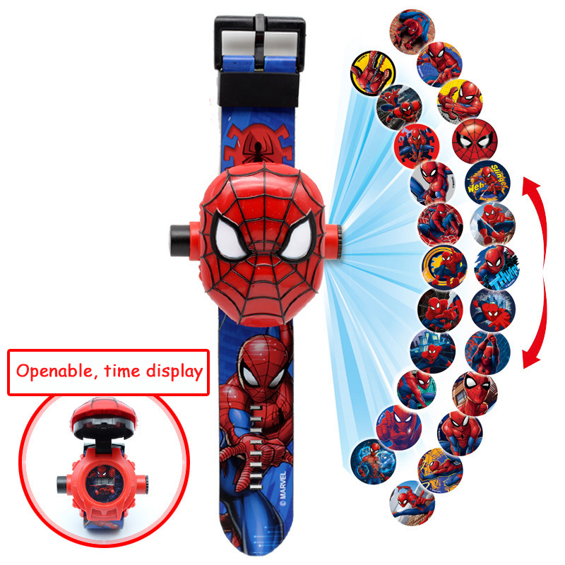 3D Projection Cartoon Pattern Children Watches Kids Spiderman Iron Girls Watch Child Boys Digital Wristwatches Relogio Masculino