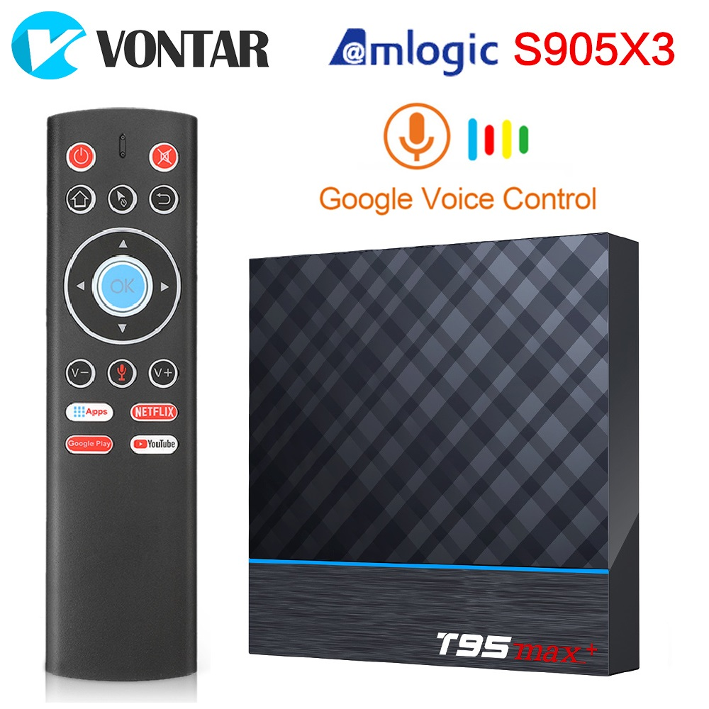 T95 MAX Plus Amlogic S905X3 Android 9,0 TV Box 4GB 64GB Dual Wifi 8K 24fps Netflix Youtube media Player 2GB 16GB 32G set top box