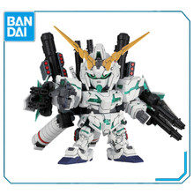 Original Bandai BB Warrior 390 Full ARMOR Unicorn SD Q Edition Gundam ประกอบ Action Figureals ตุ๊กตา(China)