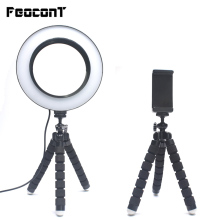 Ring Lamp 16cm Led Ring Light with Tripod for Smartphone Makeup Youtube TikTok Live Vider Dimmable Selfie Photography Lighting