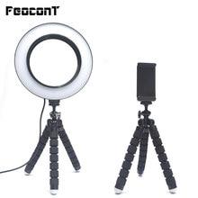 Anel lâmpada 16cm led anel de luz com tripé para smartphone maquiagem youtube tiktok vider ao vivo pode ser escurecido selfie fotografia iluminação